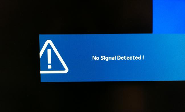 Почему компьютер показывает нет сигнала